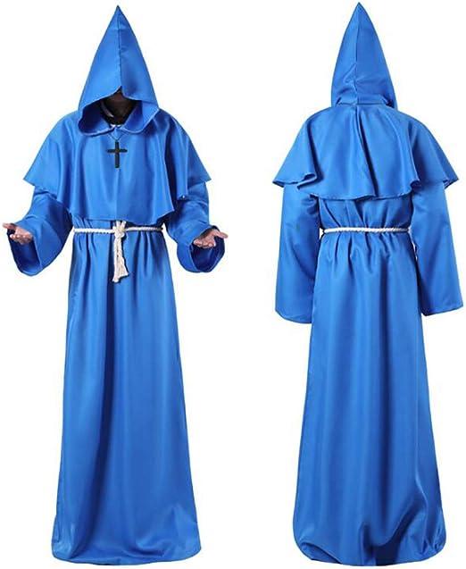 XIONGDA Disfraz de Cosplay de Halloween Traje de Monje de Traje ...