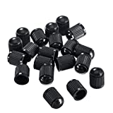 Outus 20 Pack Tyre Valve Dust Caps for Car, Motorbike, Trucks, Bike, Bicycle (Black)