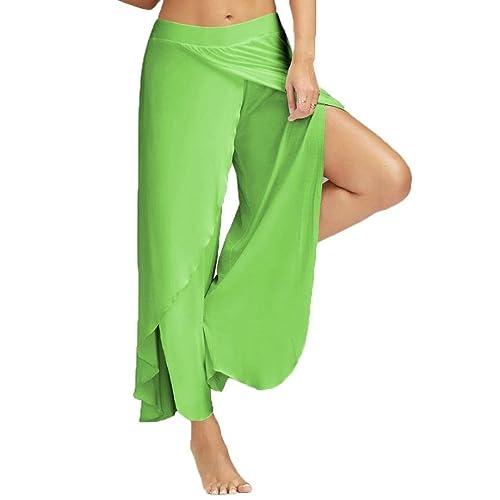 UOMOGO® Pantaloni Larghi Donna Harem Baggy Hip Hop Lunghi Pantaloni Estivi  Ragazza alla Moda Pantaloncini 013e1f52212b