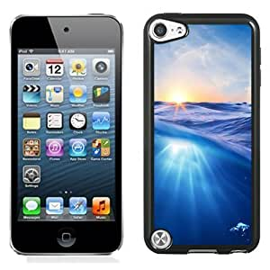 NEW Unique Custom Designed iPod Touch 5 Phone Case With HD Sea Waves Sunrise_Black Phone Case
