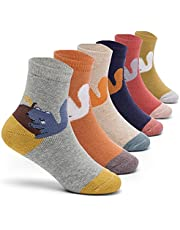 Boys Winter Socks Kids Warm Socks Thicken Thermal Crew Socks for Boys 6 Pairs