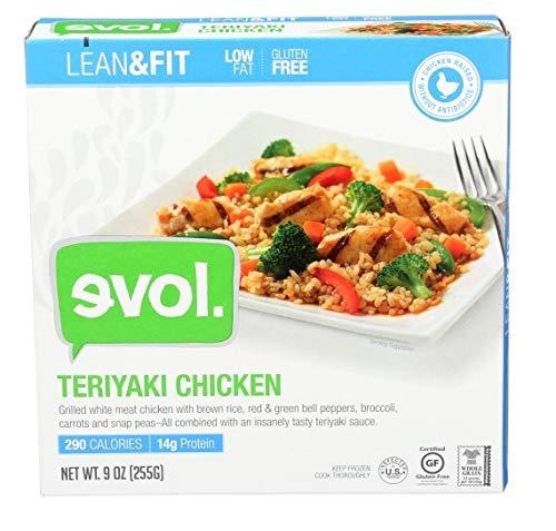 Evol Frozen Teriyaki Chicken Bowl, 9 oz (Pack of 8)
