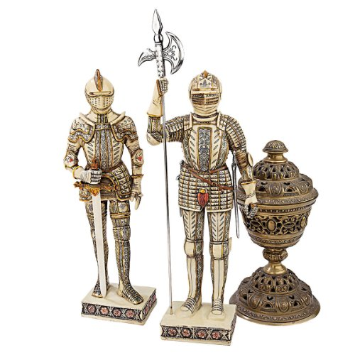 Ivory Tusk Carving (Design Toscano Knights of The Realm Faux Ivory Statues, Ancient Ivory, Set of)