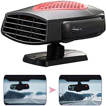 Portable Anti-Fog sbrinamento SMFYY per Auto Portatile riscaldatore 12V // 24V Automatico Ventola Caldo e Freddo Doppia Funzione Plug-in accendisigari con Rotazione Base