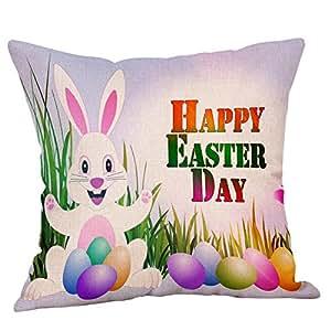 Fundas de almohada 18 x 18 Happy Pascua Día Funda de ...