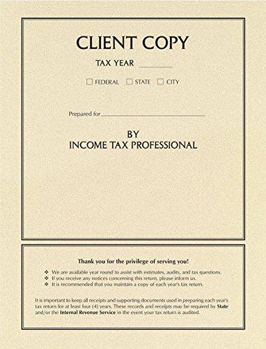 EGP Side Staple Client Copy Tax Return Folder (Cream)