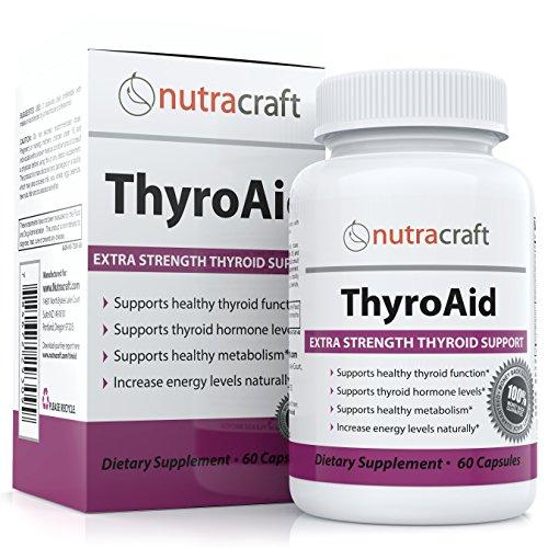 # 1 Supplément de la thyroïde à l'appui des symptômes d'une paresseuse glande thyroïde - Natural Herbal Formula Pour Fonction basse thyroïde Avec L-Tyrosine, varech (iode), Ashwaganda (Withania), sélénium, B-12 et de la vitamine D pour soutenir un métabol