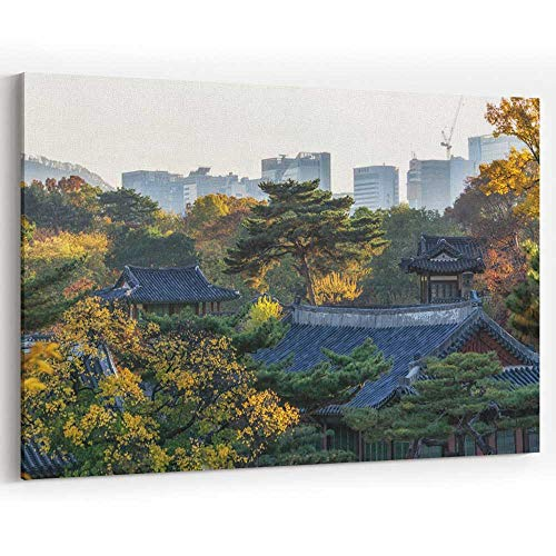 - Changgyeonggung Palace in Autumn Canvas Art Wall Dcor Painting Wall Art Picture Print on Canvas