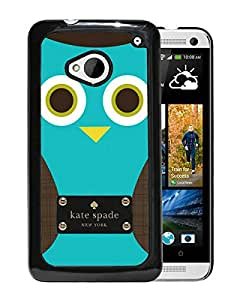 Fashionable And Unique Kate Spade Cover Case For HTC ONE M7 Black Phone Case 155