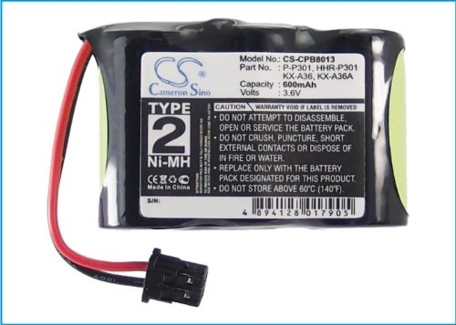 High Capacity Cameron Sino 600mAh Ni-MH Replacement Battery for SOUTHWESTERN BELL S60508, fits Again and Again 2102
