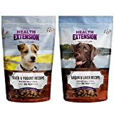 Health Extension Bully Puffs Dog Treats Variety Pack – Bacon & Liver and Duck & Yogurt (2 Pack) For Sale