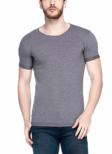 Tinted Mens Solid Round Neck Half Sleeve T Shirt  Anthera  Large