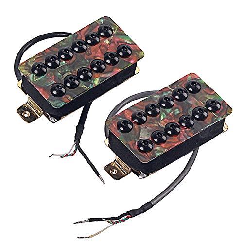 MSlongzc 2Pcs Celluloid Dual Coil Humbucker Pickups Set for Les Paul/SG Electric Guitar