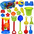 19 PCs Kids Beach Sand Toys Set Sand Water Wheel, Beach Molds, Beach Bucket Beach Shovel Tool Kit, Sandbox Toys Toddlers