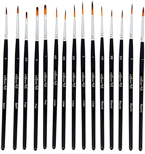Virtuous Arts Fine Paintbrushes, Handmade Detail Paint Brush Set - for Acrylic, Watercolor, Oil - Includes Deluxe Carry-Case from Virtuous Arts