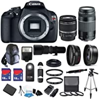 Canon EOS Rebel T5 18 MP CMOS Digital SLR Full HD Video Body with EF-S 18-55mm IS II Lens & EF 75-300mm III Lens with 32 Key Pieces Review Image