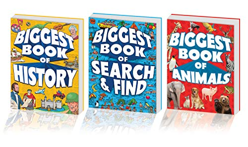 (Kidsbooks Biggest Book of 3 Book Bundle, Includes Biggest Book of Search & Find, Biggest Book of Animals, Biggest Book of History (320 pages) )