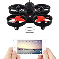 Mini RC Quadcopter Drone with 0.3MP WiFi FPV Live Camera,WiFi FPV Remote Control Drone with HD Wide Angle Lens Camera and VR Headset Compatibility