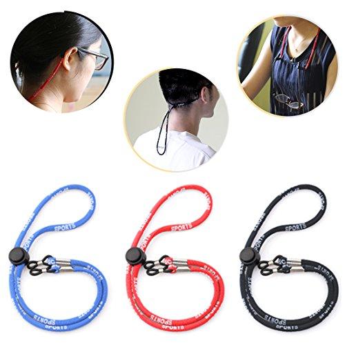 Kalevel Sports Eyeglass Strap Eyewear Retainer Eyeglass Chains And Cords For Women Men Kids (Red)