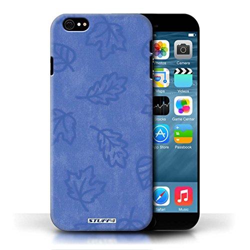 Etui pour Apple iPhone 6/6S / Bleu conception / Collection de Motif Feuille/Effet Textile