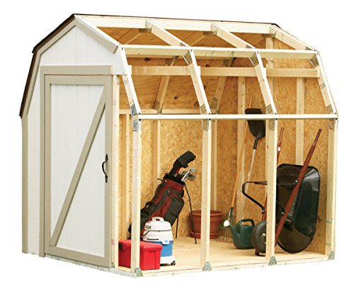 2x4basics 90190MI Custom Shed Kit with Barn - Kit 8' Shed Storage