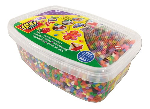 SES Creative Iron On Beads Mix Basic, Box of 7000