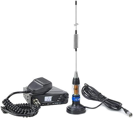 Estación de Radio CB Albrecht Ae 6199 ASQ + Antena CB Midland LC59 con imán
