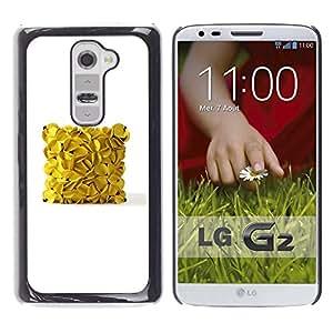 Be Good Phone Accessory // Dura Cáscara cubierta Protectora Caso Carcasa Funda de Protección para LG G2 D800 D802 D802TA D803 VS980 LS980 // banana cube