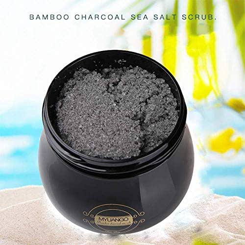 Beauty Glazed Bamboo Charcoal Sea Salt Body Scrub Exfoliating Whitening Skin Care Slimming Smoothing Natural Cleansing Sea Salt Scrub