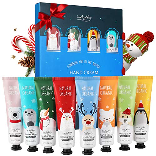 Hand Cream Gift Set, 8 Pack Travel Size Nourishing Hand Cream Set with Natural Shea and Vitamin E, Moisturizing & Hydrating for Dry Hands, Ideal Gift for Women/Men, Birthday, Valentine's Day