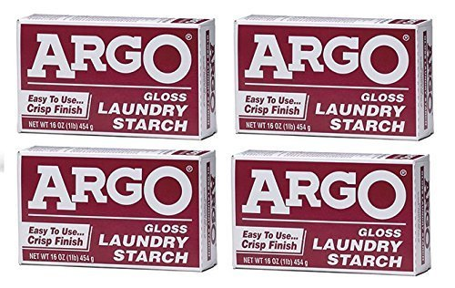 Argo Laundry Starch 4 boxes 1 lb Each Play Clay & Multi Purpose