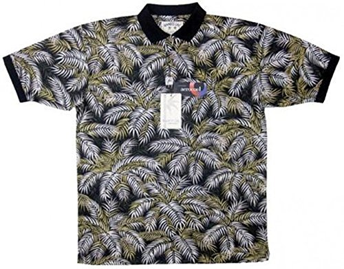 Bamboo Cay - All Over Palm Leaves, Men's Tropical Style, Moisture Wicking