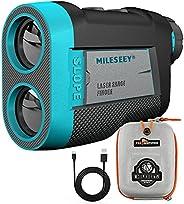 MiLESEEY Golf Rangefinder PF260, High-Precision 660 Yards Laser Rangefinder with Slope On/Off Switch, Integrat