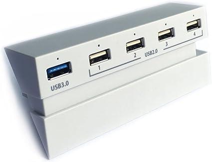 USB 3.0 Hub in blanco glacial for PS4 - ElecGear Central de ...