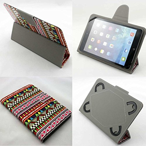 EmaticGenesis Prime 7 Inch All Models (7az) Universal Tablet Pc Case New Design , Ultra Slim , Low Weight and Fashionable (Only 7 Inch) (Tribal Pattern Tumblr Aztec Print)