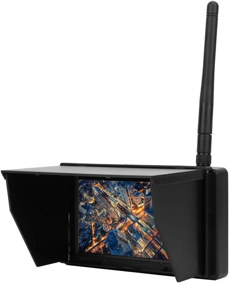 R/écepteur de transmission dimage Rc moniteur FPV 4,3 pouces 48CH 480 x 22 LCD Moniteur de r/écepteur sans fil Batterie int/égr/ée pour Quadricopt/ère RC FPV avec r/écepteur sans fil 140//120 degr/és