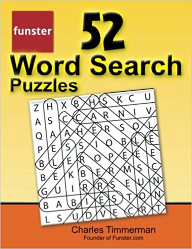 graphic about Printable Word Searches for Adults Large Print named Funster 52 Phrase Glance Puzzles: Higher-print head online games for