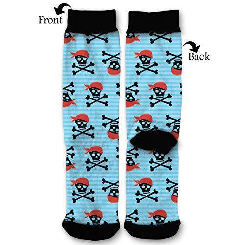 (Pirate Skull Wallpaper High Ankle Socks,Men Women All Season Sock,Soft Cotton Breathable Printed Rib)