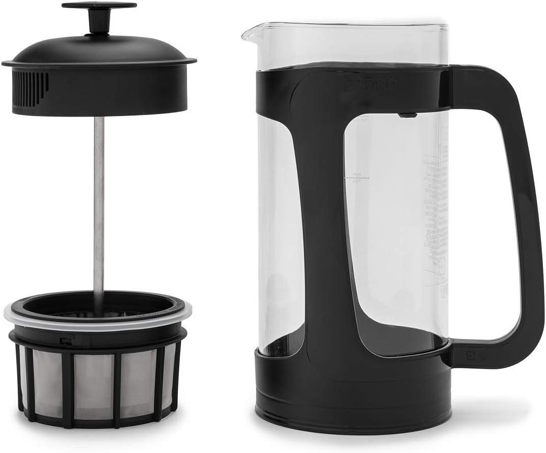 Glass and Black Plastic ESPRO 1418C-BK Coffee Press P3-32 oz