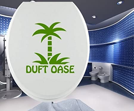 Adhesivo Tapa de Inodoro Aroma Oase Palmera Toilets Sticker Baño ...