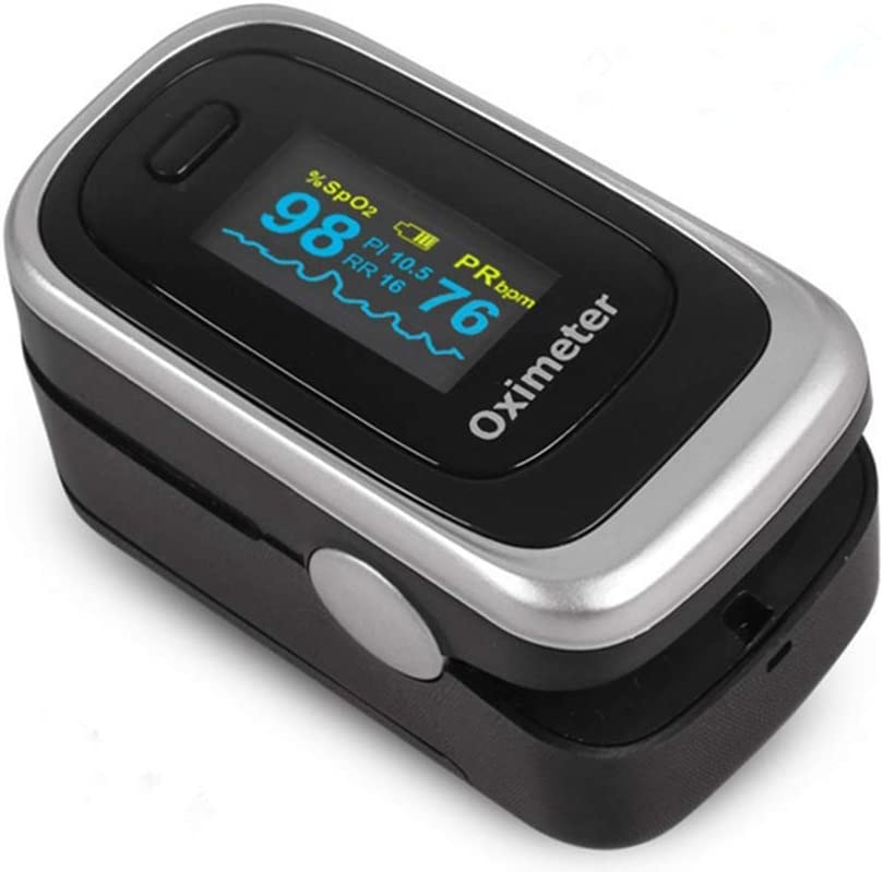 COOLEAD Pulsioxímetro de Dedo Oxímetro de Pluso Digital Portátil con Pantalla OLED 4 Parámetros en Hogar
