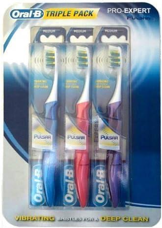Oral-B Pulsar Pro Expert Triple Pack 35 - Cepillos de Dientes con ...