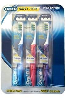 Oral-B Pulsar Pro Expert Triple Pack 35 - Cepillos de dientes con cerdas vibrantes