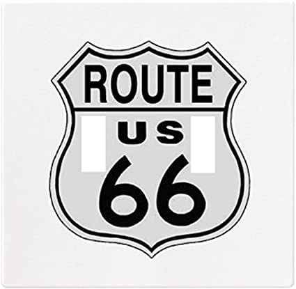 Route 66 Sign Wallplate Decorative Switch Plate Cover 2 Gang Double Toggle Home Improvement