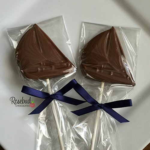 12 Milk Chocolate SAILBOAT Lollipops Candy Party