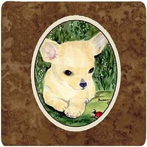 "Caroline's Treasures SS1010FC Chihuahua Foam Coasters (Set of 4), 3.5"" H x 3.5"" W, Multicolor"