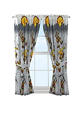 Nickelodeon Teenage Mutant Ninja Turtles Cross Hatching Gray Curtains/Drapes 4 Piece Set (2 Panels, 2 Tiebacks) from Jay Franco and Sons, Inc.