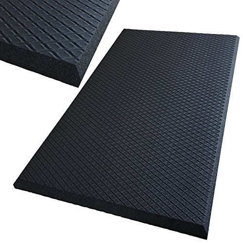 Extra Thick and Softest Standing Anti Fatigue Mat - Super Thick ONE INCH - Softest Commercial Standing Desk Mat by iPrimio. Great Size 30 by 18.5. Black Color