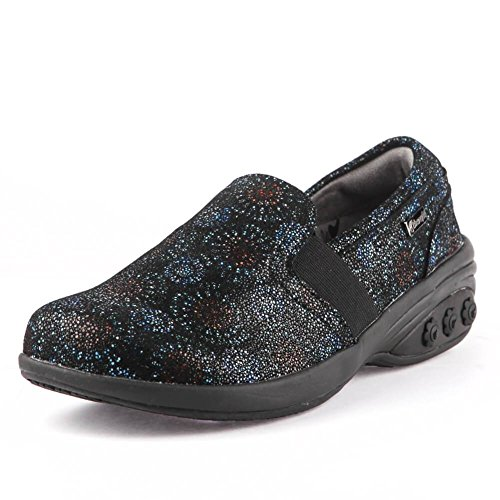 Print On Blue Slip Leather Resistant Fasciitis Women's for Annie Slip Foot Plantar Pain wPXq7cxO
