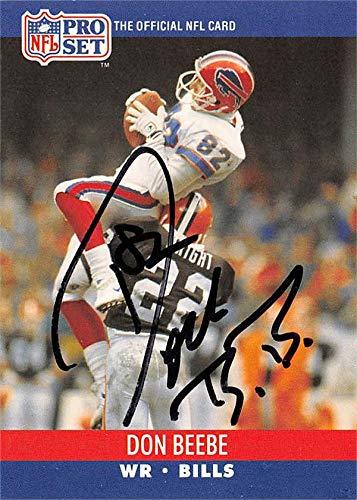 Don Beebe autographed football card (Buffalo Bills) 1990 Pro Set #435